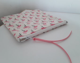 Pink Flamingo square pouch