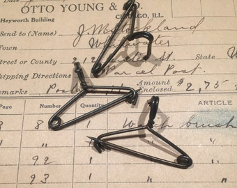 Vintage miniature pins in shape of wire hangers clothes pins for dolls crafts hats
