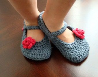 Cute Charcoal color Mary Janes for baby girl  (12-18 months)