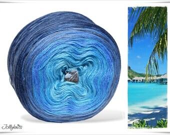 Gradient Yarn Merino Blue Lagoon 750m