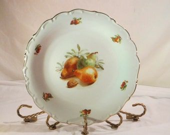 Vintage Large Round Scalloped Edge Serving Dish Made by Schumann Arzberg in Germany