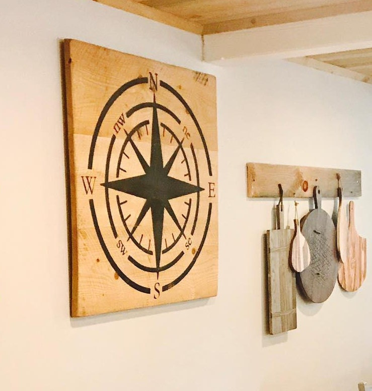 Exelent Compass Wall Decor Festooning - Wall Art Design ...