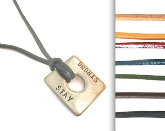 Name necklace square color choice request caption