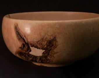 Box Elder Burl Wooden Bowl