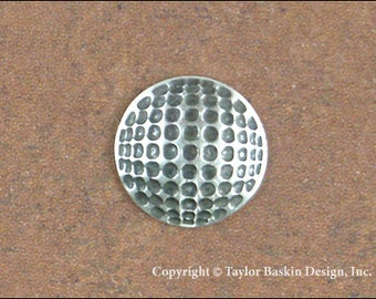 Golf Ball Jewelry Scrapbooking Charm Finding in Antique Silver Plate (item 1808 AS) - 6 Pieces