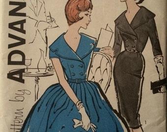 Gorgeous Vintage Shirtdress Pattern---Advance 9589