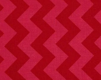 Chevron medium by riley blake red patchwork fabric