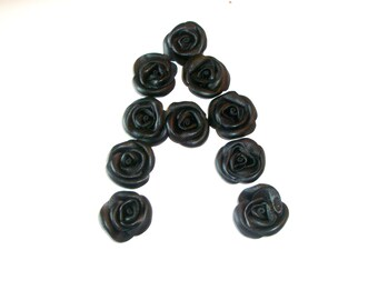 Leather Roses  Decorations  - wedding flowers -Third anniversary gift -leather jewelry decoration