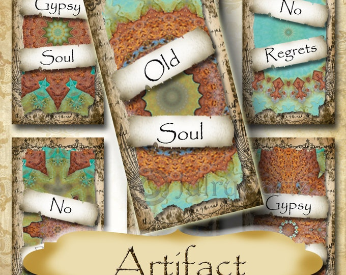ARTIFACT•1x2 Quote Images•Printable Digital Images•Cards•Gift Tags•Stickers•Magnets•Digital Collage Sheet