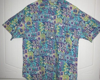 Vintage 90's Guess Floral S/S Shirt Medium