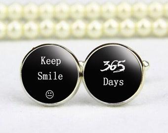 Keep smile Cufflinks, Keep calm and Say I DO,  custom any text, photo, personalized cufflinks, custom wedding cufflinks, groom cufflinks
