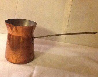 Vintage Copper Butter Warmer or Turkish Coffee Pot
