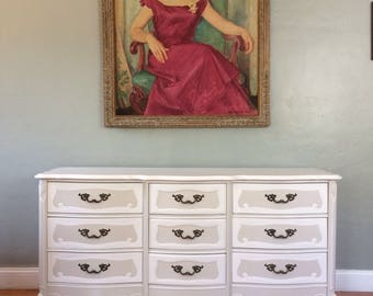 SAMPLE PIECE - Solid Wood Two-Tone French Provincial Dresser