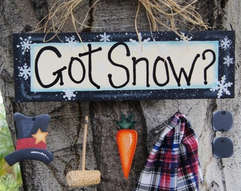 Got Snow??  Wood Christmas Sign - Wall or Door Hanging Decoration