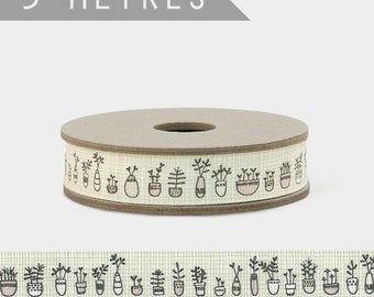 East of India FLOWERS IN A POT Grosgrain Ribbon 3m Craft