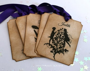 10 Midsummer Table Cards AND 80 Midsummer Nights Dream Name Tags WITH Guest Printing/ Wedding Place Name Tag/ Shakespeare