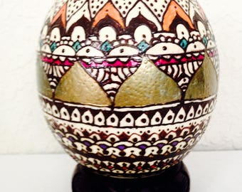 Ostrich egg hand painted