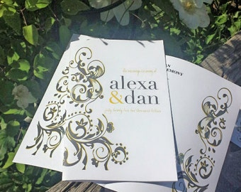 ELEGANT SWIRL Program Template is perfect for any event! ...Wedding Ceremony, Shower or Retirement Banquet.
