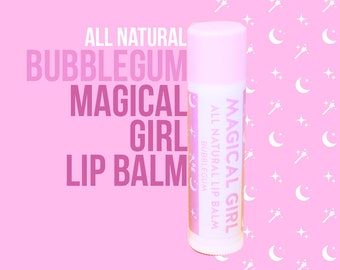 Magical Girl All Natural Lip Balm - Bubblegum Flavour