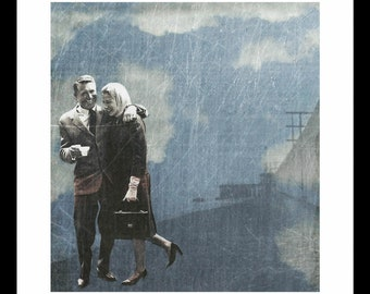 Friends - Cary Grant & Deborah Kerr - Print from original collage
