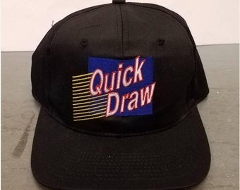 New Year SALE 15% Off Vintage 90's Lottery Quick Draw Logo Snapback Hat.