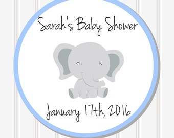 Custom Baby Shower Stickers, Baby Shower Decor, Personalized Sticker, Favor Stickers, Baby Shower Favor, Baby Shower Labels, SS17