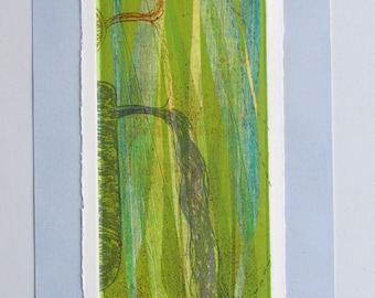 Ecological art, fine art print, OOAK. Reed bed regeneration