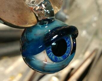 Bloodshot Blue Magic Eye Pendant