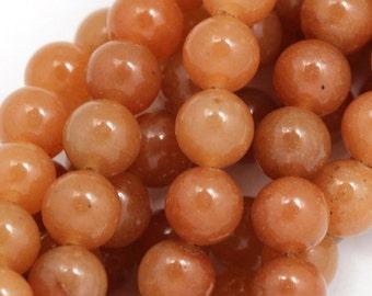 Peach Aventurine Beads - 8mm Round