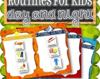 Routines for Kids (Morning and Night) - INSTANT DOWNLOAD