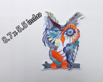 Owl patch, colorful patch, back patch