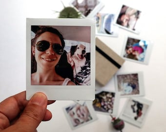 Custom printed square Polaroids/Instax Square photos | Print your instagram pics! Great personalized gift!