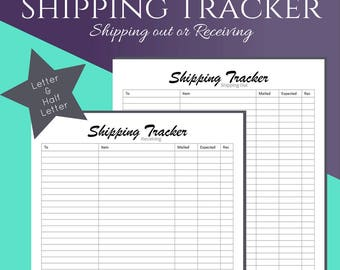 Happy Mail Tracker for your Holiday Gift Planner, Half Letter and Letter Size Planner Printable, Planner Inserts