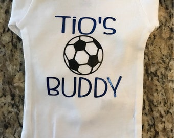 Uncle/Tio Soccer Buddy Baby Onesie
