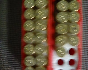 7mm brass casings(31) cleaned and polished with box