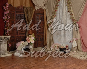 Digital Download Background Vintage Victorian Photo Backdrop