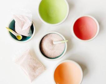 CERAMIC SALT CELLAR with spoon /// ceramic salt box, Salt Pig, Salt Caddy, Salt Pot, Salt Jar, Salt Container, Salt Keeper, Salt Well,