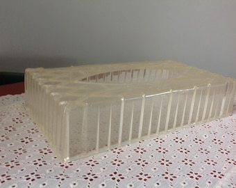 Vintage Floral Clear Tissue Holder Clear Tissue Box