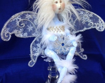 Snowflake Princess - Cloth Doll Mailed Pattern Beautiful Winter Wonderland Snow Fairy