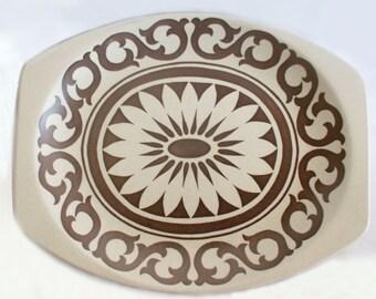 J G Meakin Maidstone Bianca Platter | Meakin Studio Maidstone Series, Bianca Design by Eve Midwinter, Large Rimmed Platter / Serving Plate