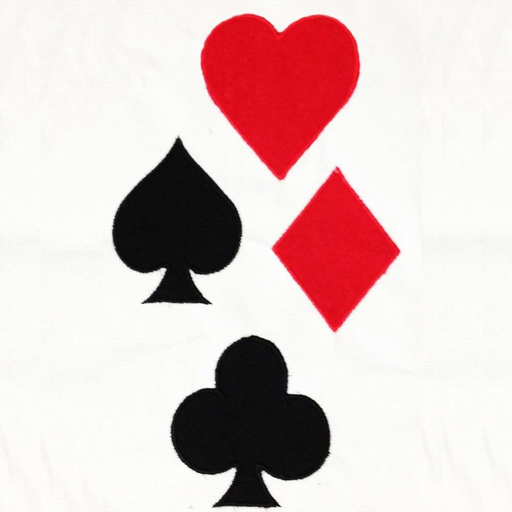 Playing card symbols club heart diamond and spade machine zoom biocorpaavc
