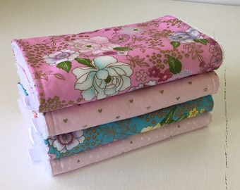 Girls burp cloths / 4 pack girls burp cloths / burp cloth / baby shower gift
