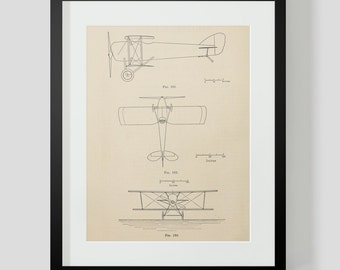 Vintage Flying Machine, Airplane Print 4