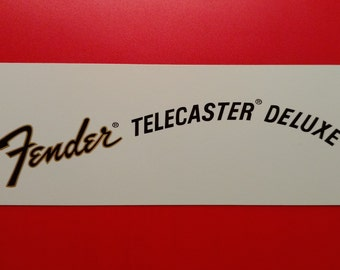 Custom Fender Telecaster Deluxe 70's Waterslide decal, Metallic Gold Border