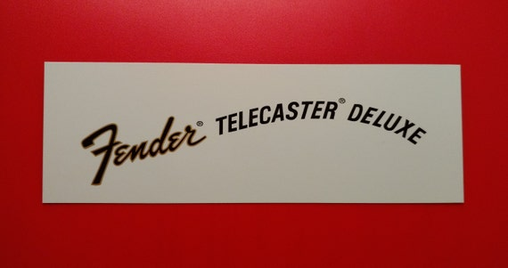Custom Fender Telecaster Deluxe 70's Waterslide decal, Metallic Gold Border