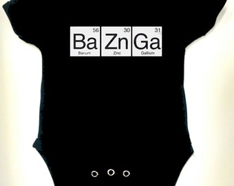 Big Bang Theory - Chemical Elements - Black Onesie or Toddler T-shirt
