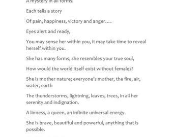 The Inner Goddess- femininity- Girl Power- Original- Inspiring- Wall Art- Digital Print