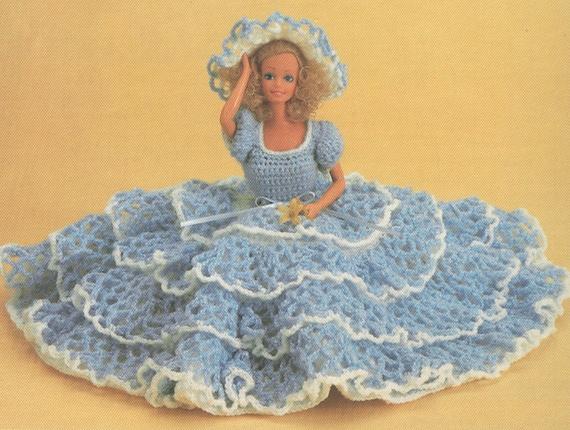 Vintage Barbie Lacy Dress And Hat Crochet Pattern Pdf 8308