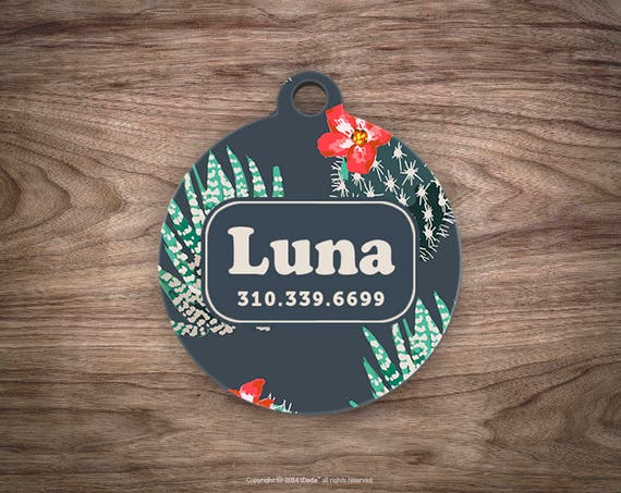 Dog Tag Cactus Pet ID Tags for Dogs Dog Tag Personalized Cat Tags Pet Gift Custom Dog Tag Pet Tags Dog Tags Personalized
