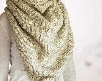 Thick & Chunky Bandana Kerchief / Scarf / Cowl Knitting Pattern - DANDY - a set of instructions to knit
